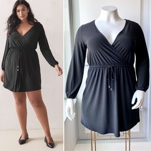 ADDITION ELLE Faux-Wrap Shirt Dress